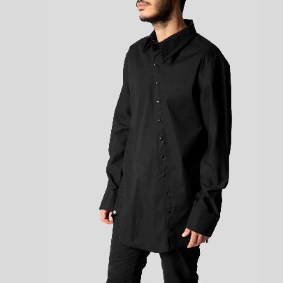 Picture of Black men blouse with button