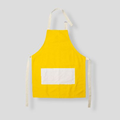 Picture of White & yellow apron