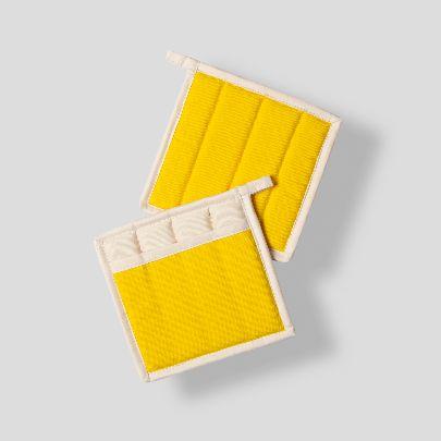 تصویر  دستگیره مربعی کرم زرد