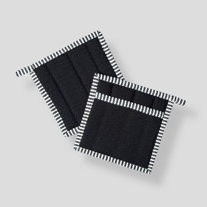 تصویر  دستگیره مربعی مشکی سفید