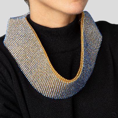 Picture of Orange & blue necklace