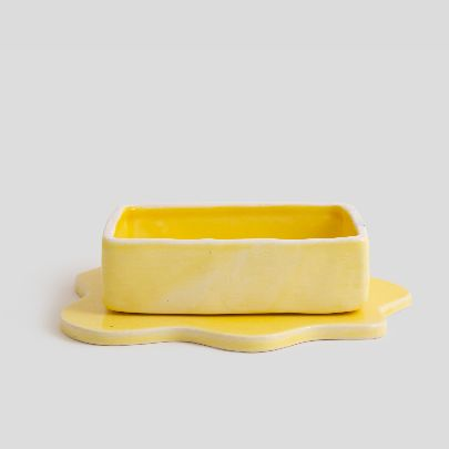 Picture of Yellow butter container
