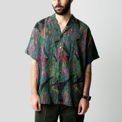 Picture of Green patterned shirt