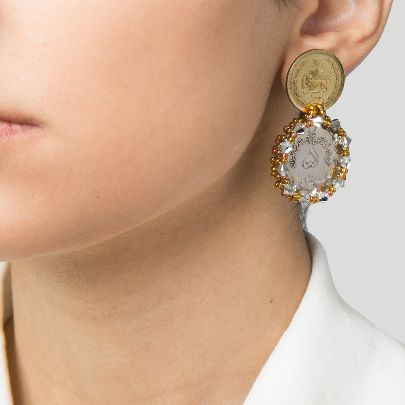 Picture of Earrings with 50 dinar coins