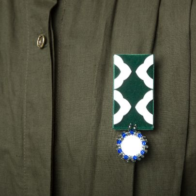 Picture of Bazm brooch with green velvet