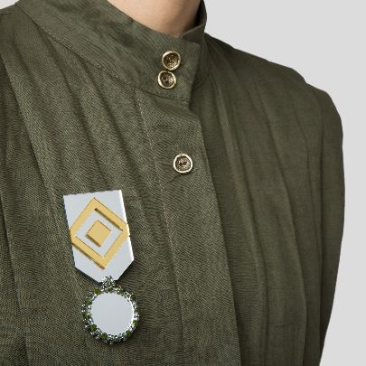تصویر مدال بزم تمام آینه طرح لوزی