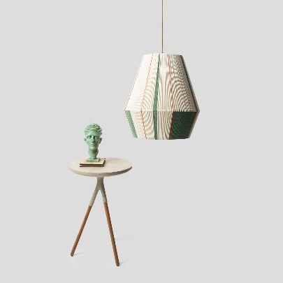 Picture of Green & orange chandelier