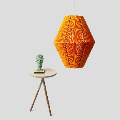 Picture of Orange & black chandelier