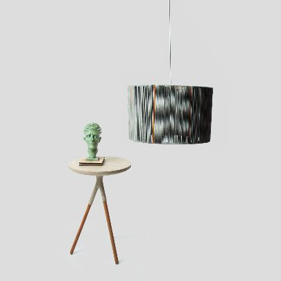 Picture of Gray cylindrical chandelier