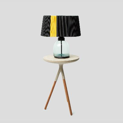 Picture of Black & yellow lampshade