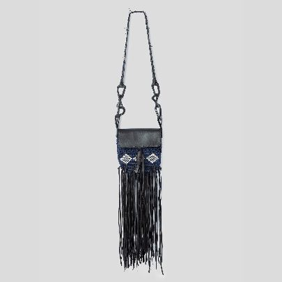 Picture of Macrame blue shoulder bag