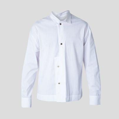 تصویر پیراهن یک طرف یقه سفید