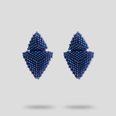 تصویر گوشواره آبی تیره آکو