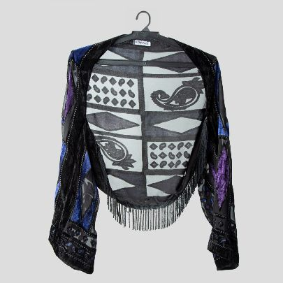 Picture of  Blue and purple miny pancho