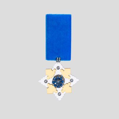 تصویر  مدال بزم 2 آبی
