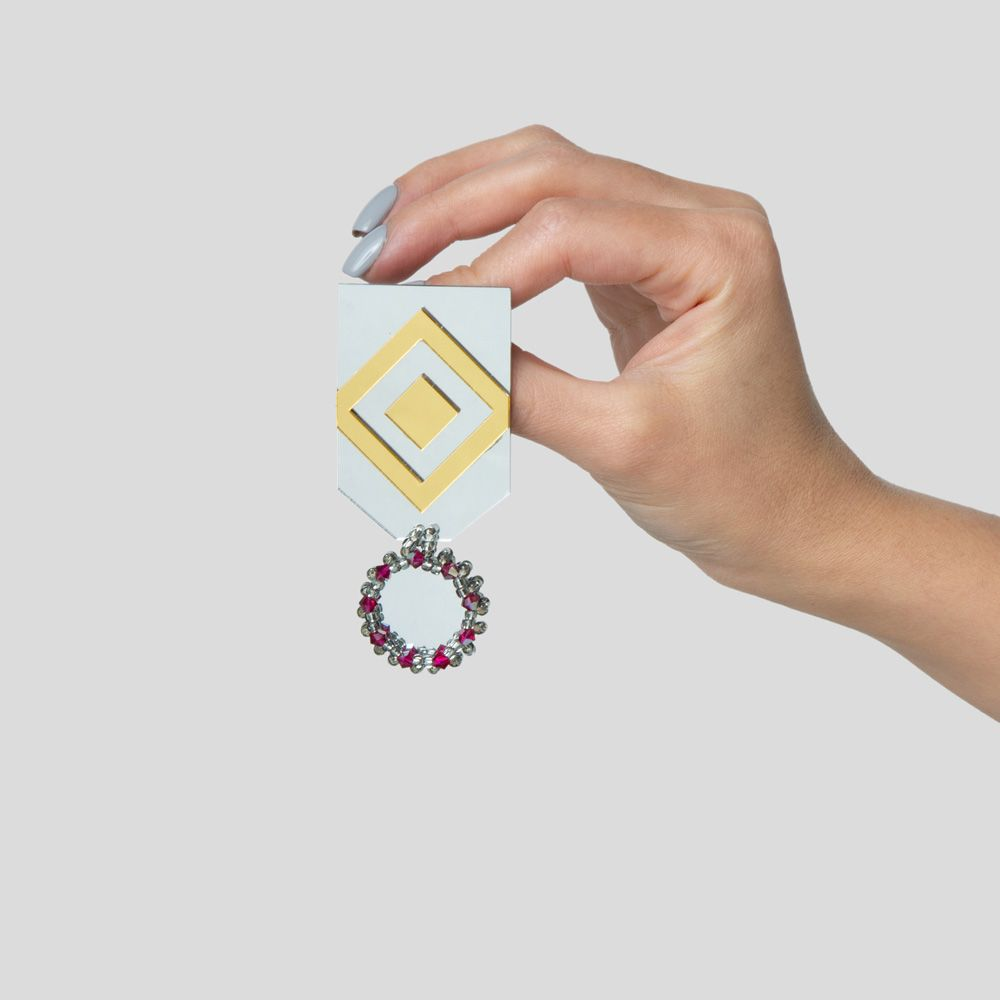 Picture of mirror Bazm  brooch