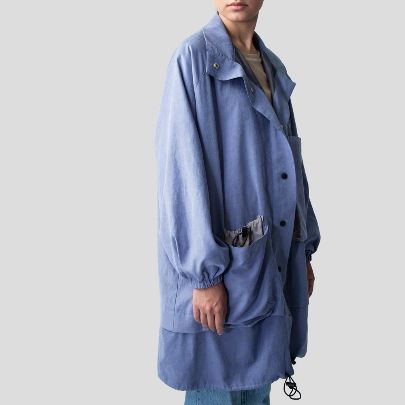 Picture of  Blue Oversized rain jacket