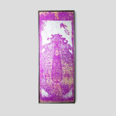 Picture of  Purple rectangular mirror